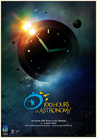 100 Hours of Astronomy Poster