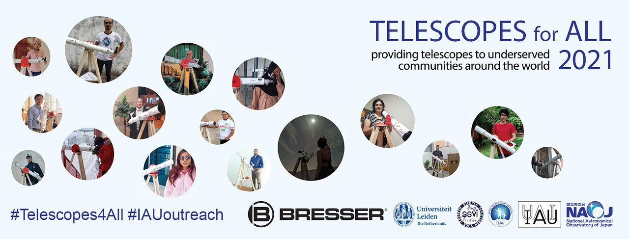 Banner for the Telescopes for All 2021 programme