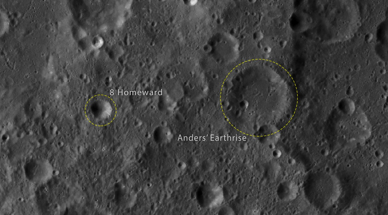 Map of the 2 newly named craters