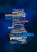 Word Cloud for the International Year of Astronomy 2009 Final Report