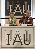 Norio Kaifu at the first press briefing of the IAU XXIX General Assembly