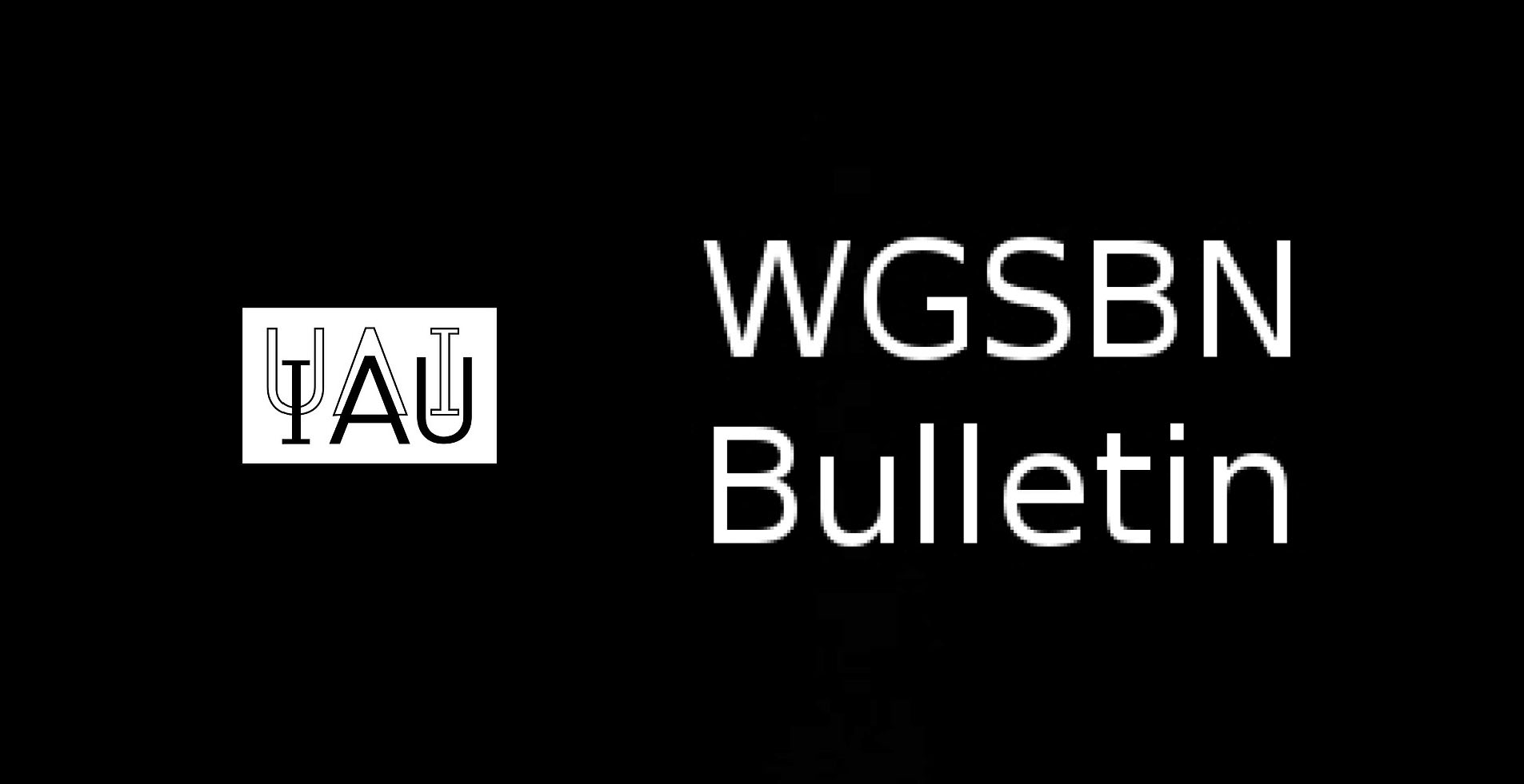 WG Small Bodies Nomenclature Bulletins